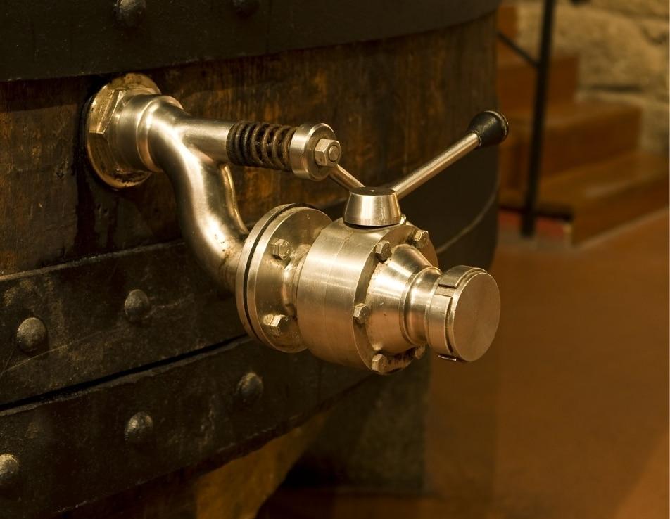 Robinet viticole représentant les équipements viticoles et les matériels de l'univers du vin