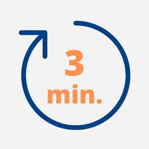 Remplissez votre formulaire en moins de 3 minutes